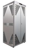 Securall OG10S Cylinder Storage Cabinet, 10 LP, Aluminum