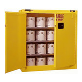 Securall Flammable Paint Storage Cabinet 40 gal Self-Close, Self Close Safe-T-Door