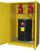 Securall V175, Vertical Drum Combo Cabinet (2 Drum, 3 Safety Can)