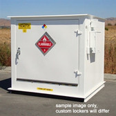 Hazmat Storage Building, 2-hour Fire Rated LF04, 4 drum Outdoor Locker