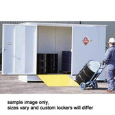Hazmat Storage Building, 2-hour Fire Rated LF10, 10 drum Outdoor Locker
