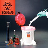 Bench Top Biohazard Container, 5 Liter