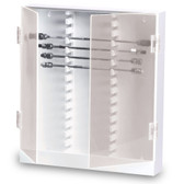 TrippNT 50004 Lab HPLC Column Storage Cabinet, 30 Slot, Locking Acrylic Door