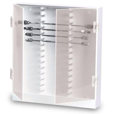 trippnt lab hplc column storage cabinet 30 slot locking acrylic door