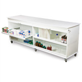 TrippNT 50593 Belize Lab Island 8 Foot Lab Cart, Locking, Roll Top Doors
