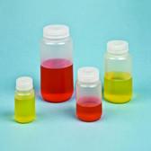 125mL Reagent Bottle, Wide Mouth, Polypropylene, case/12