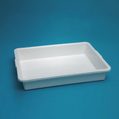 "Lab Tray, Autoclavable polypropylene, 15 x 12 x 3"", case/10"