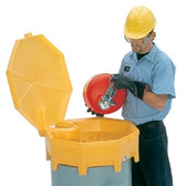 UltraTech 0499 Global Drum Funnel, Hinged Cover, Spout for 30-55 gal drums,