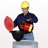 """UltraTech 0651 Burp-Free Drum Funnel, Standard fits 2"""" NPT"""