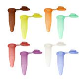 BioPlas Microcentrifuge G-Tube, 1.5mL, Flat Top, Choose Color, Pack/500