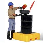 UltraTech 9607 Drum Spill Pallet P1 Plus, Yellow, 1-Drum