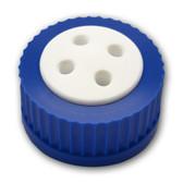 4- Port Cap for Glass Bottle, GL45, Complete Kit