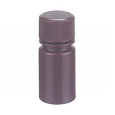 15mL Leak Resistant Star Bottle, HDPE, Amber, 20-410 Cap, case/72