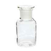 1000mL Glass Reagent Bottle, Wide Mouth Clear, Ground Stopper, case/10