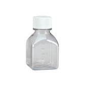 Wheaton 219975 Sterile 125mL Bottle, Square Media, PET, case/48