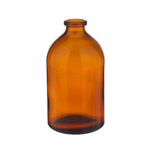 100mL Amber Serum Bottle, Borosilicate Glass Amber, case/144