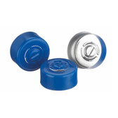 224182-05 13mm Seal, Center Tear-Out, Aluminum Blue, Unlined, case/1000