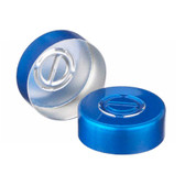 20mm Seal, Center Tear-Out, Aluminum Blue, Unlined, case/1000