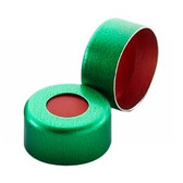 11mm Seal, Aluminum Green, PTFE/Red Rubber, case/1000