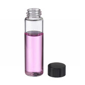 12mL, Economy Vials, Glass Clear, 15-425 Cap, Rubber Liner, case/200