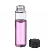 12mL, Economy Vials, Glass Clear, 15-425 Cap, PTFE Liner, Case/200