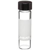 Wheaton 225014 8mL Sample Vials In Box, Clear, Label, case/144