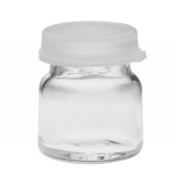 Wheaton 225532 4mL Glass Sample Bottle with Clear Snap Caps, case/144