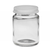 Wheaton 225543 30mL Glass Sample Bottle with Clear Snap Caps, case/72
