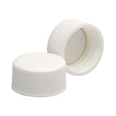 Wheaton 239227 18-400 Polypropylene Caps, White, PTFE Liner, case/144