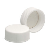 Wheaton 239231 22-400 Polypropylene Caps, White, PTFE Liner, case/144