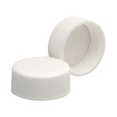 Wheaton 239233 24-400 Polypropylene Caps, White, PTFE Liner, case/144