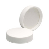 45-400 PP Caps, White, PTFE Faced/Foamed Poly Liner, case/72