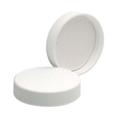 48-400 PP Caps, White, PTFE Faced/Foamed Poly Liner, case/72