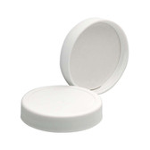53-400 PP Caps, White, PTFE faced/Foamed Poly Liner, case/72