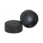 Wheaton 239257 24-400, Phenolic Black Caps, Polyethylene Cone Liner, case/144