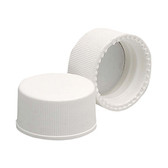 15-425 PP Caps, White, Foamed Poly Liner, case/144