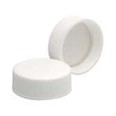 28-400 PP Caps, White, Foamed Poly Liner, case/144