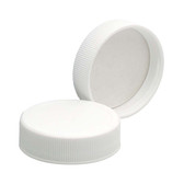 38-400 PP Caps, White, Foamed Poly Liner, case/72