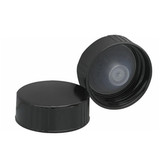 Wheaton 240119 28-400 Caps, Phenolic Black, Polyethylene Cone Liner, case/100