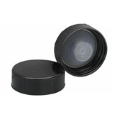 Wheaton 240121 33-400 Caps, Phenolic Black, Polyethylene Cone Liner, case/100