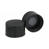 Wheaton 240181 38-430 Caps, Phenolic Black, Polyethylene Cone Liner, case/100