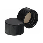 13-425 Caps, Phenolic Black, White Rubber Lined Caps, case/200
