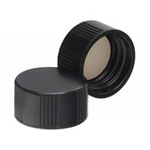 Wheaton 240409 15-425 Caps, Phenolic Black Caps, PTFE Liner, case/200