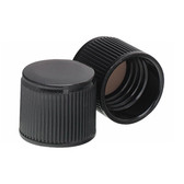 Wheaton 240463 15-415 Caps, Phenolic Black Caps, PTFE Liner, case/200