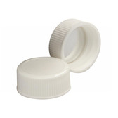 Wheaton 240804 22-400 Caps, Polypropylene White, Foil Liner, case/1000