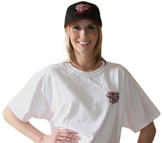 SpinTech Girl Wearing a White T Shirt