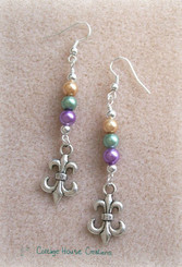 Mardi Gras ~ Carnival Beaded Earring Kit