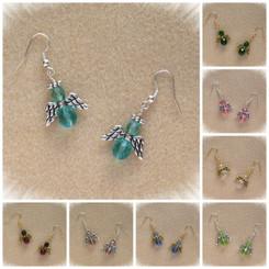 Birthstone Color Beaded Angel Earring Kits