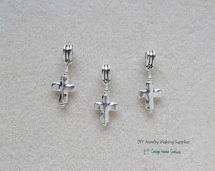 Silver Cross Charms European Dangles for Bracelets