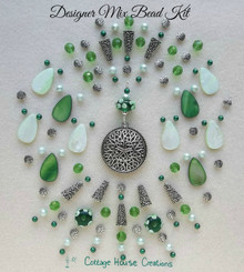 Shades of Green Designer Mix Bead Kit